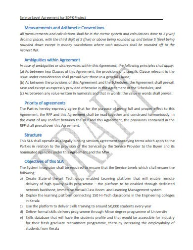 recruitment agency project service level agreement