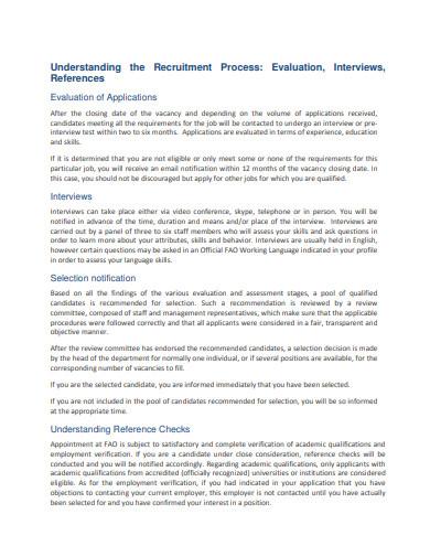recruitment evaluation example