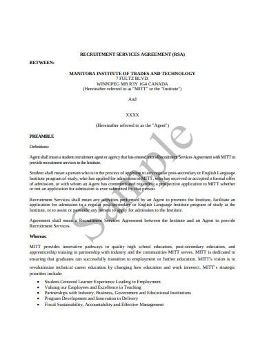 recruitment service agreement template