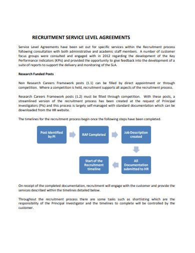 recruitment service level agreement example
