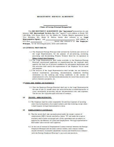 recruitment services agreement template