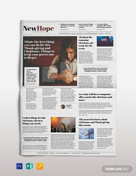 religious newspaper template