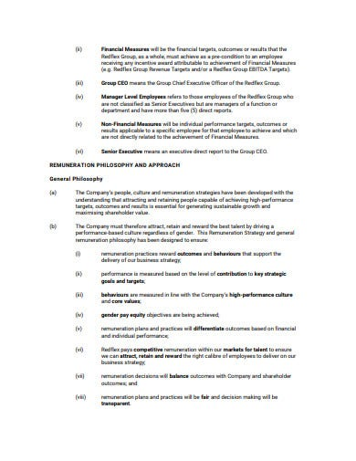 remuneration philosophy strategy template