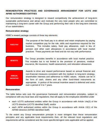 remuneration strategy arrangements