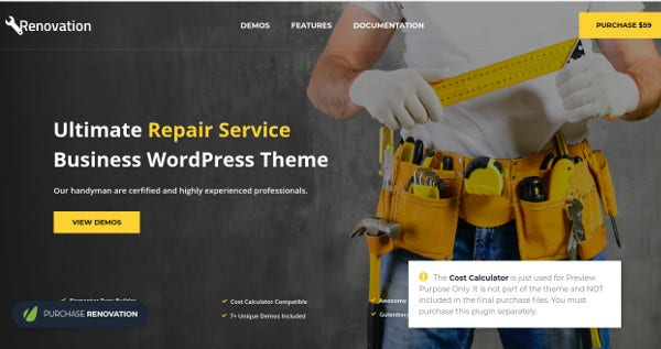 renovation wpml supported wordpress theme