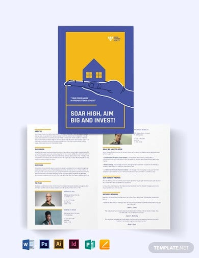 residential real estate investment bi fold brochure
