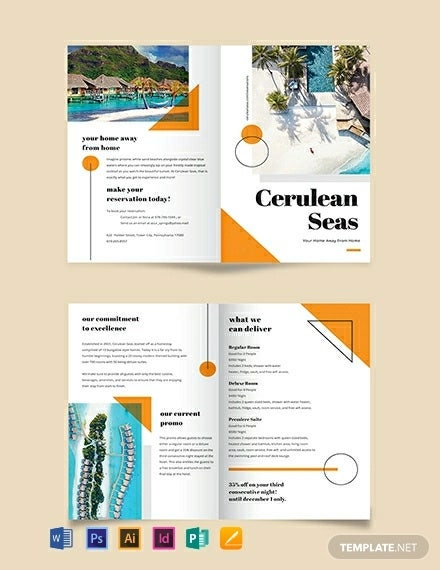 resort brochure template