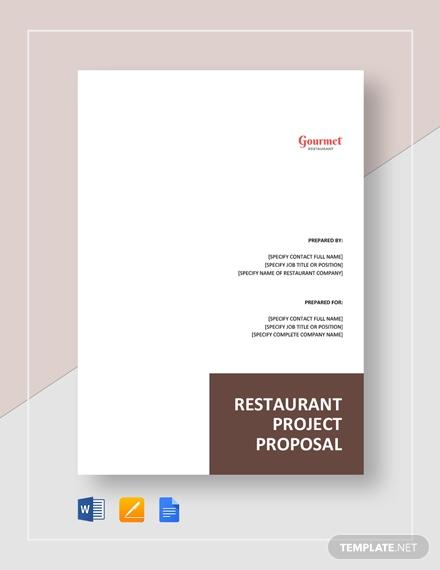 restaurant project proposal 2