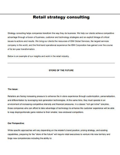 retail strategy consulting