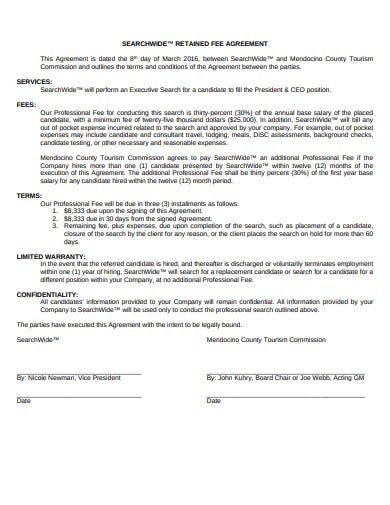 retained search agreement example
