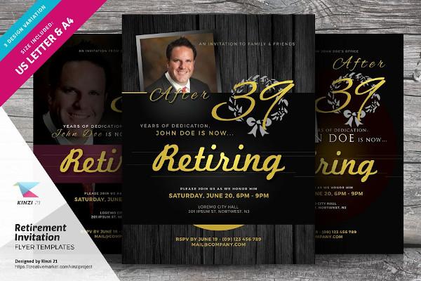 retirement invitation flyers