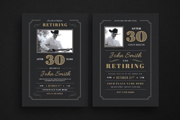 retirement invitation sample