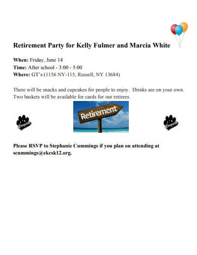 retirement party invitation sample