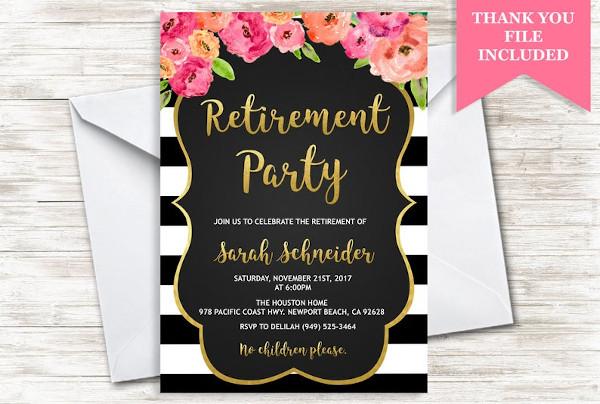 retirement party invite invitation example