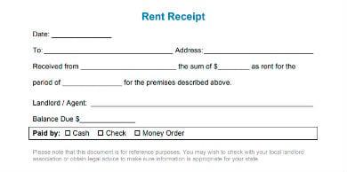 sample car rental receipt template in pdf
