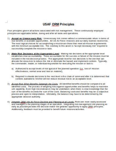 sample operational risk management