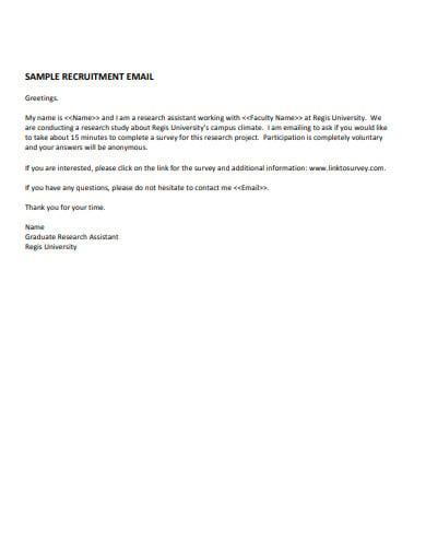 sample volunteer recruitment email example