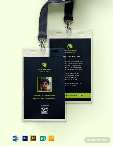 sample sports id card