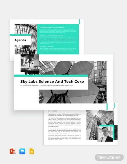 science and technology powerpoint template