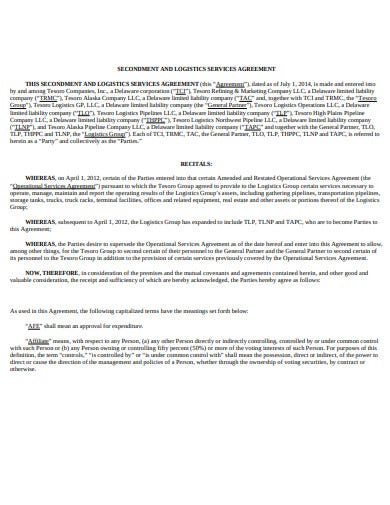 secondment and logistics services agreement