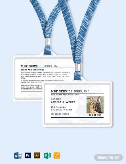 service animal id card