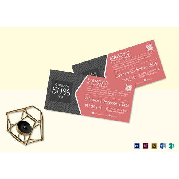 shopping discount coupon template