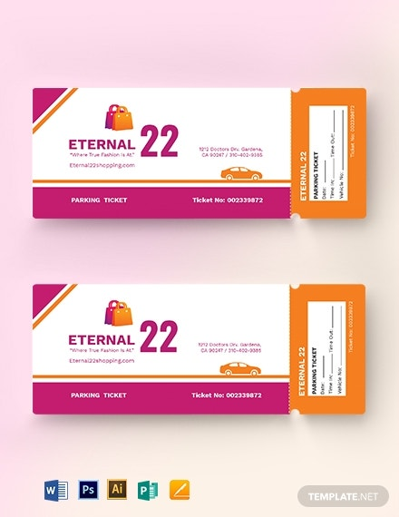 shopping parking ticket template 1