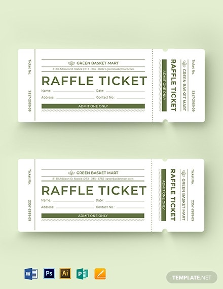 simple raffle ticket template 1