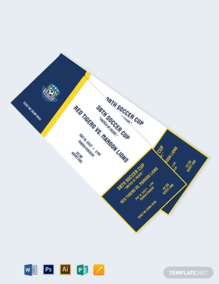 soccer event ticket template 1
