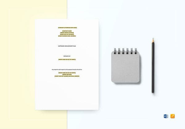 software development plan template mockup