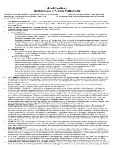 staffing agency agreement example