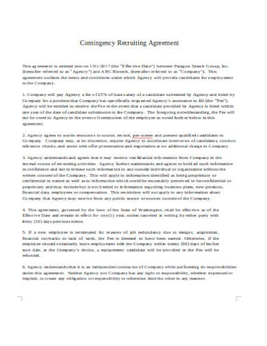 staffing agency agreement in doc