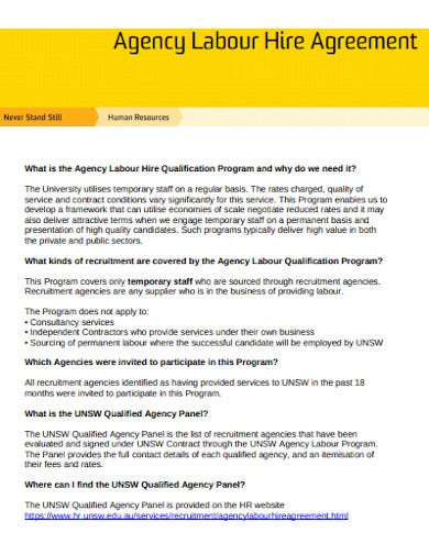 staffing agency agreement in pdf