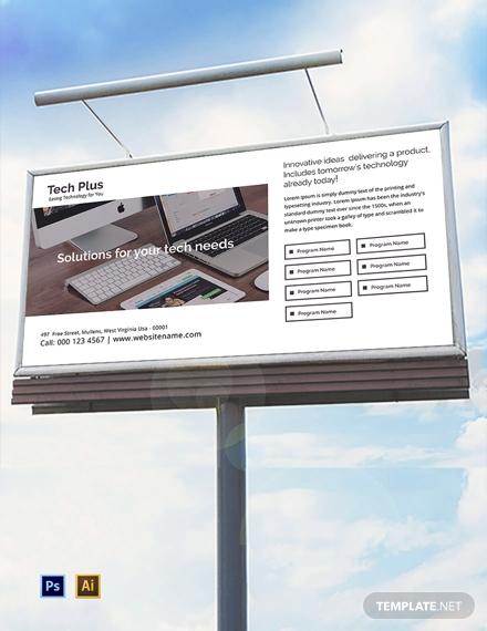 startup business billboard