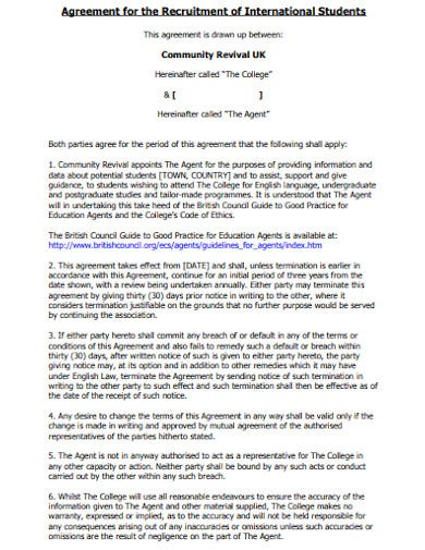 students recruitment agency agreement