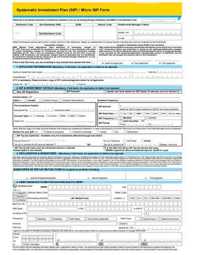 systematic investment plan form