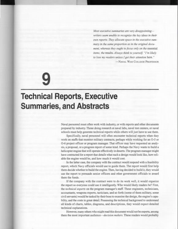 technical report and executing summary