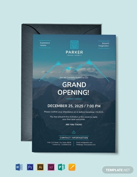 travel agency invitation template