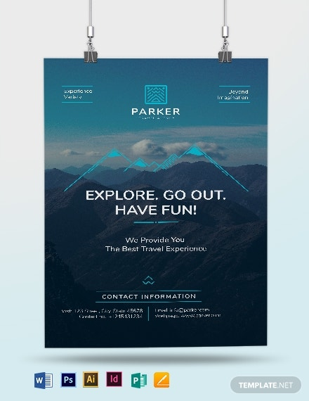 travel agency poster template 1