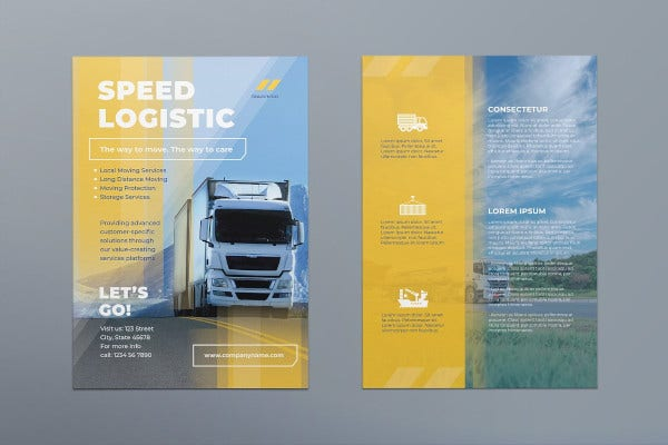 10  logistics flyer templates in ai