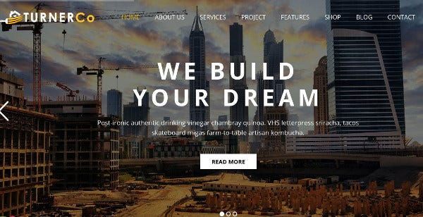 turnerco – personal blog feature wordpress theme
