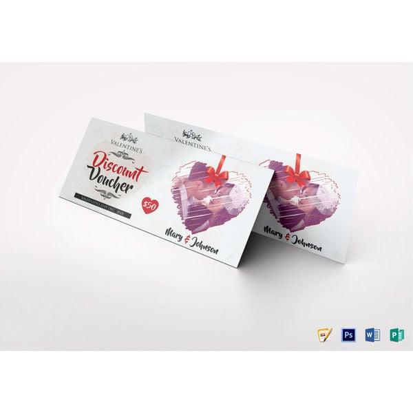 valentine discount voucher template