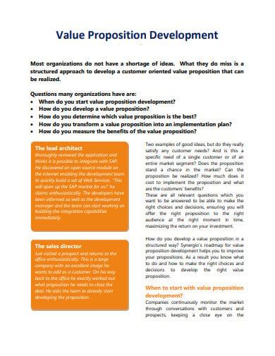 value proposition development template