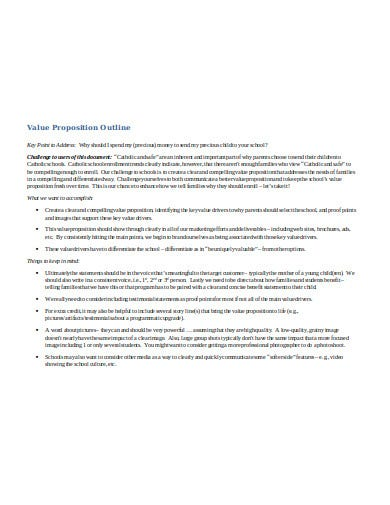 value proposition outline template