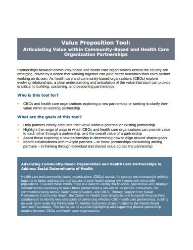 value proposition tool template