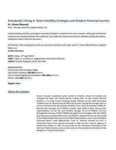 volatility strategies and shadow financial insurers