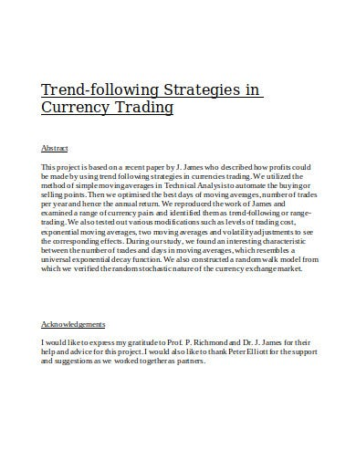 volatility strategies in currency trading