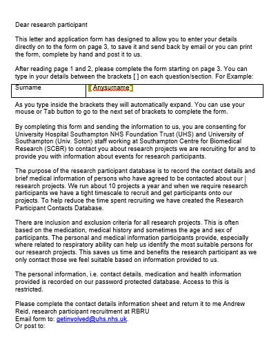 volunteer participiant recruitment email template