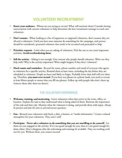 volunteer recruitment email template in pdf