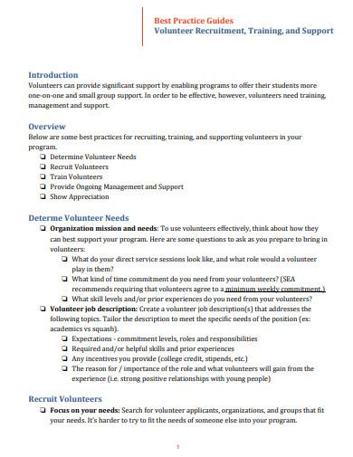 volunteer recruitment training email template